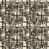 art vintage geometric pattern monochrom background
