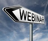 webinar online internet web conference or workshop true video chat