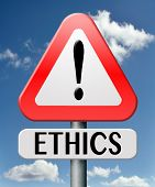 stock photo of moral  - ethics moral value be polite and responsible dilemma in morality values - JPG