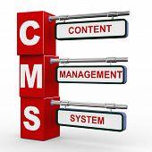 3D Modern Signboard Of Cms