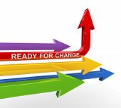 3D Ready For Change Arrow
