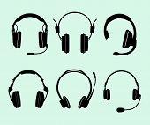 Conjunto de fones de ouvido