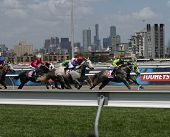 Melbourne November 6 - Horses Race On Oaks Day At Flemington