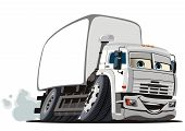 foto of moving van  - Vector illustration of cartoon delivery  - JPG