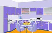 Móveis de cozinha por lilás conjunto moderno