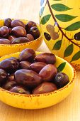 stock photo of kalamata olives  - Close - JPG