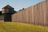 Pinoeer Fortress With Defense Tower Fort Vancouver