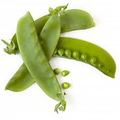 image of snow peas  - Snow peas or mange - JPG
