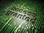 Privacy concept: Access Granted on circuit board background
