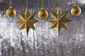 A Group Of Christmas Ball And Star