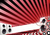 Red Abstract Party Design