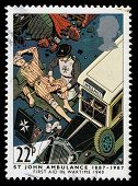 Britain St John Ambulance Postage Stamp