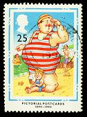 Britain Seaside Postcard Postage Stamp