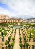 picture of versaille  - One of Versailles Palace gardens Paris France - JPG