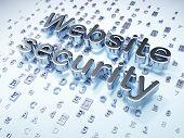 SEO web design concept: Silver Website Security on digital backg