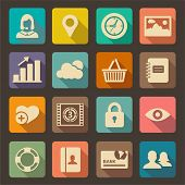 stock photo of security  - Flat icons set for Web and Mobile Applications - JPG