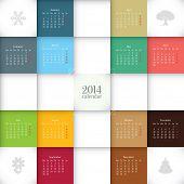 Vector 2014 calendar template