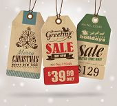 stock photo of countdown  - Christmas Sale Tags - JPG
