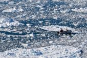 Boat In Icefield