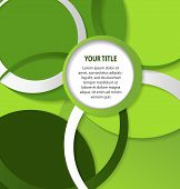 Abstract Green Background With Circles And Rings