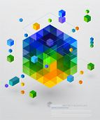 pic of isometric  - Isometric Abstract Background - JPG