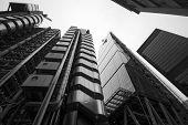 London - September 21: The Lloyds Building, Leadenhall Building, St Helens Skyscraper
