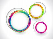 Colorful Rainbow Circle Based Background