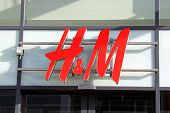 Sign H&M (Hennes & Mauritz) On Store Wall