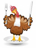 Vector Turkey Clipart For Thanksgiving Day