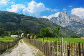 foto of albania  - Peaceful view of countryside in Albanian Alps - JPG