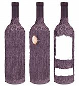 Treelike Wine Bottles Isolated