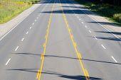 Empty Multi-lane Highway