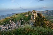 stock photo of salvatore  - Mountain town Caltabellotta  - JPG