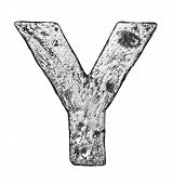 Metal alloy alphabet letter Y