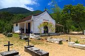 Church and cemetery On Island Ilha Grande, Brazil
