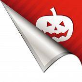 Halloween pumpkin on corner tab