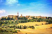 Tuscany, Pienza Medieval Village. Siena, Val D Orcia, Italy