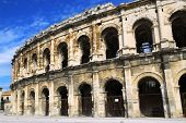 Roman arena in city of Nimes in southern France
