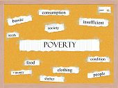 Poverty Corkboard Word Concept