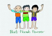 Happy Friendship Day and Best Friends Forever idea design