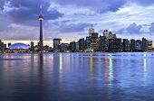 pic of urbanisation  - Scenic view at Toronto city waterfront skyline at sunset - JPG