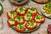 Red stuffed tomatoes
