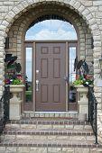 image of front door  - traditional front door - JPG
