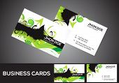 Abstract Green Business Card Template
