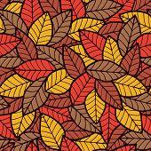 Leafs Seamless Pattern Autumn