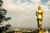 Buddha Statue In Wat Phra That Khao Noi, Nan Province, Thailand