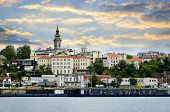 stock photo of yugoslavia  - View of Belgrade city from Danube river - JPG