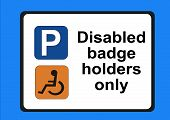 Disabled Badge Holders Only Illustration