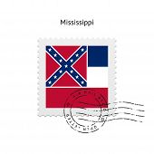 State of Mississippi flag postage stamp.