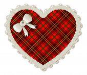 Heart Plaid Patch